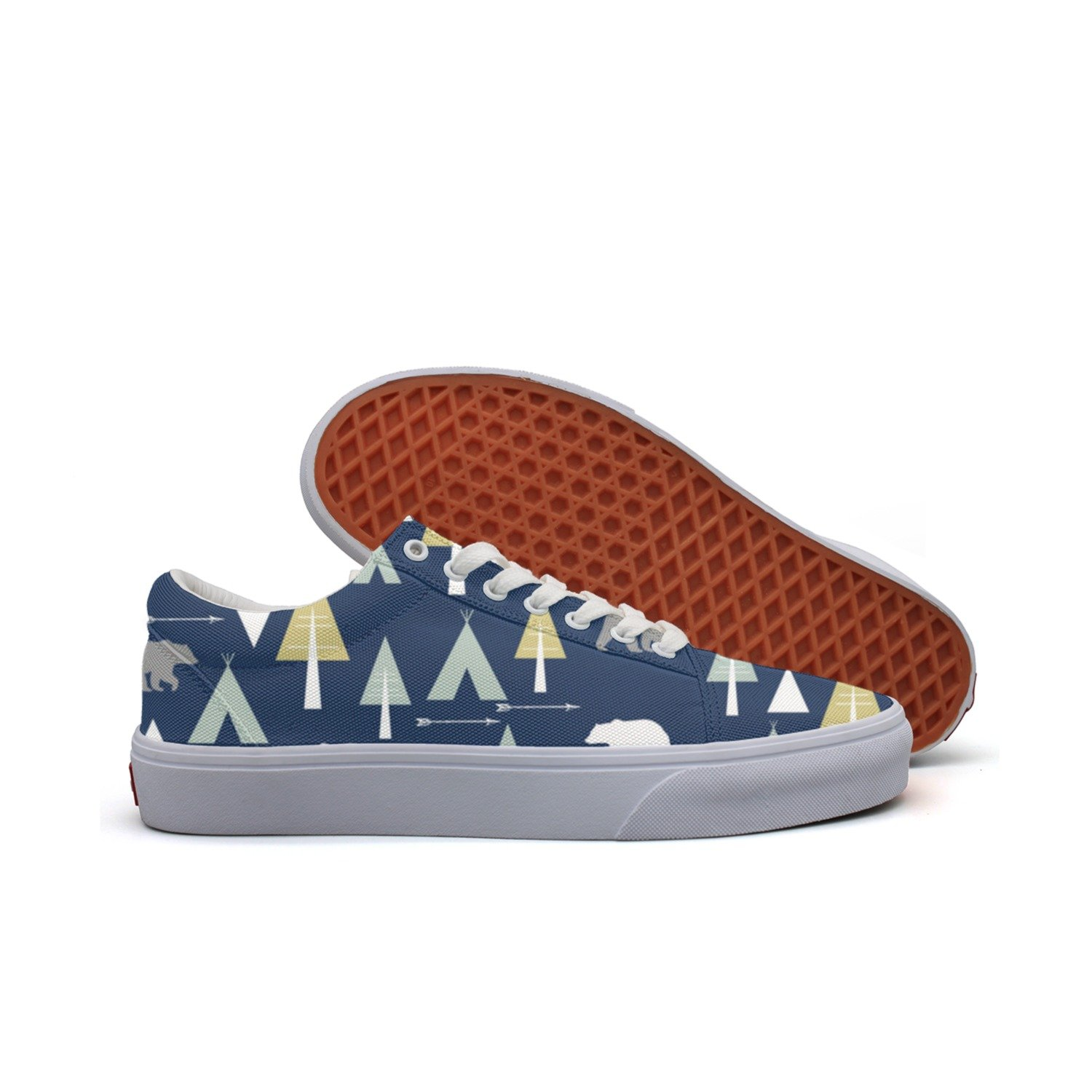 Bear Arrow Teepee Women's Casual Shoes Sneakers Boat Cool Print Original