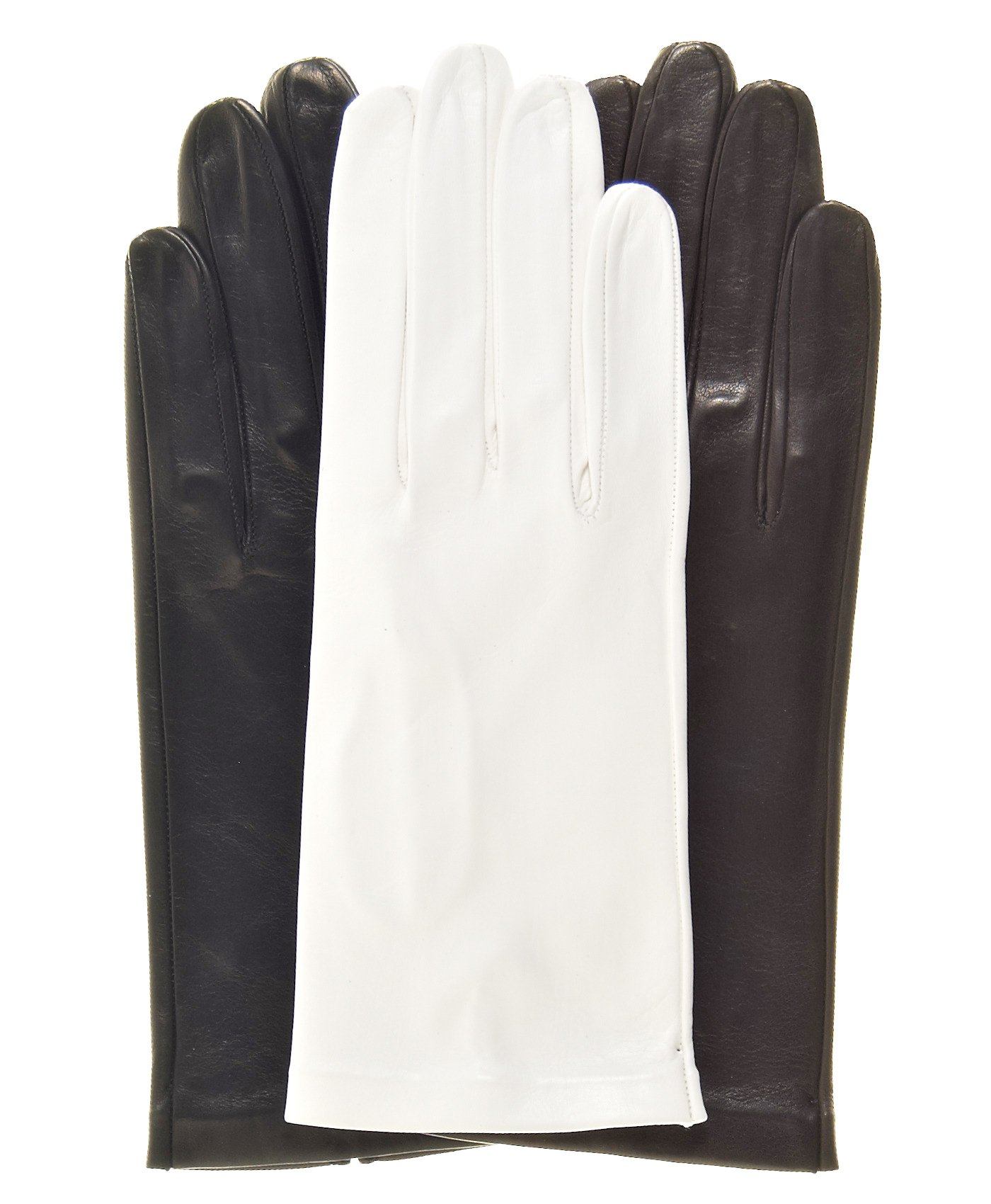 Fratelli Orsini Women's Italian Unlined Leather Gloves Size 7 Color Black