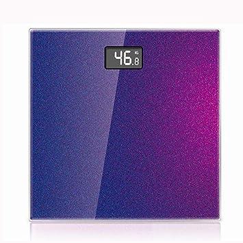 Báscula de Baño Digital /Luz diferente, creación de diferentes colores, diseño, Luz La bella vida - Decoloración azul: Amazon.es: Deportes y aire libre