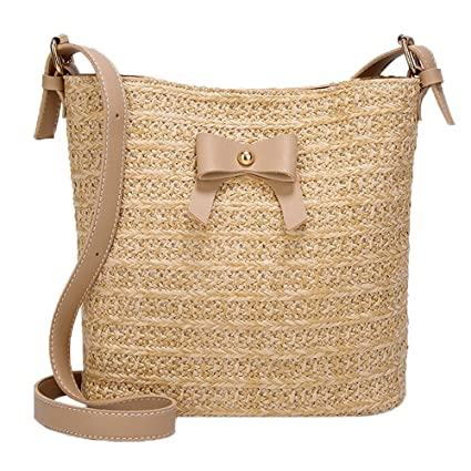 Amazon.com: Mnyycxen Women Woven Straw Bag Rattan Bag Tote Bag Purse Handbag Beach Bag, Handwoven/Handmade/Crochet: Mnyycxen