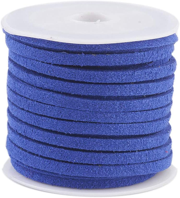 25 Roll Faux Suede Lace Cord Beading jewelry Thread For Bracelet  Making 3x1.5mm