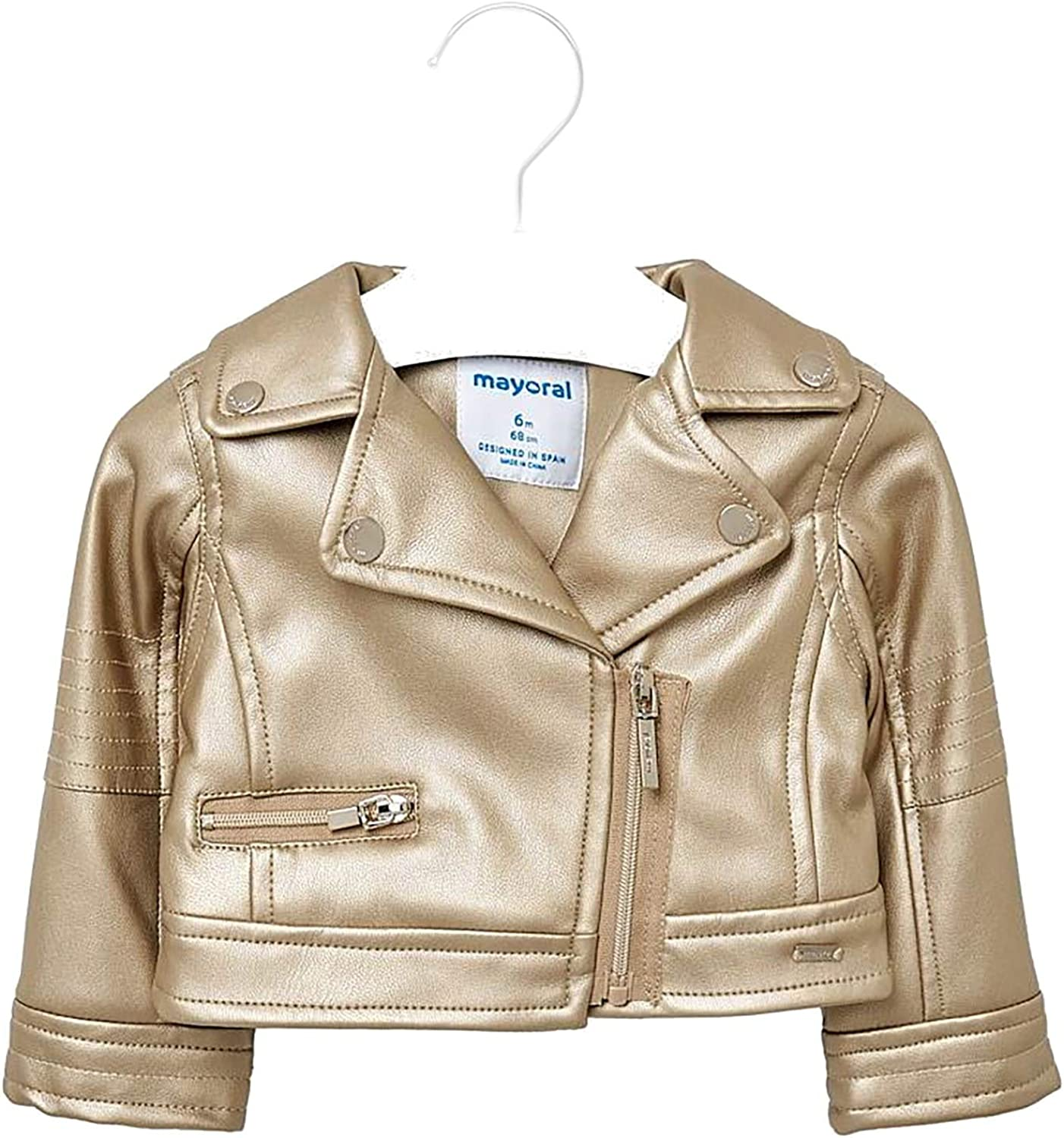 Mayoral 1417 Leather Jacket for Baby-Girls Golden