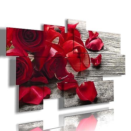 Quadri Moderni Rose multilivello 3D con Bianche Rosse di 3D ...