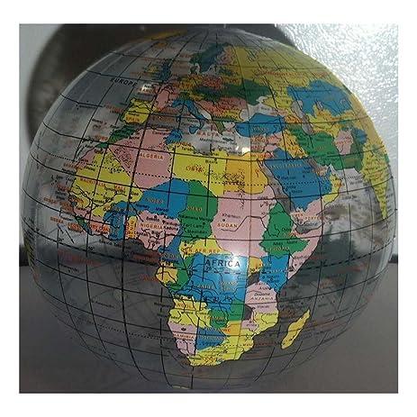 globe beach ball 12 pool party earth world map teacher inflatable