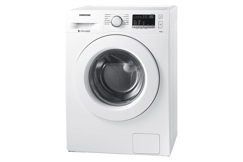 Samsung WW70J44A3MWEG Waschmaschine Frontlader 7kg 85 cm Höhe ECO Trommelreinigung Smart Check Vollwasserschutz Digital Inverter Motor