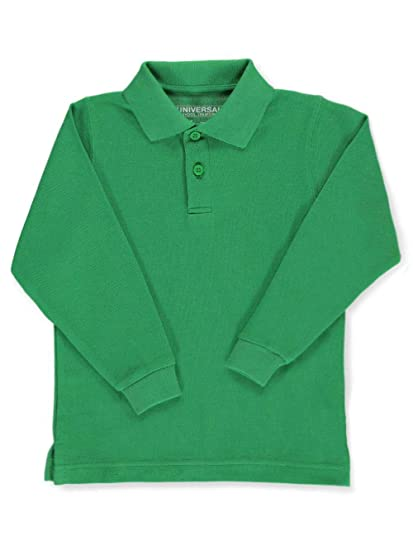 36da6d8e5 Amazon.com: Universal Little Boys' Toddler L/S Pique Polo - Kelly Green,  3t: School Uniform Shirts: Clothing