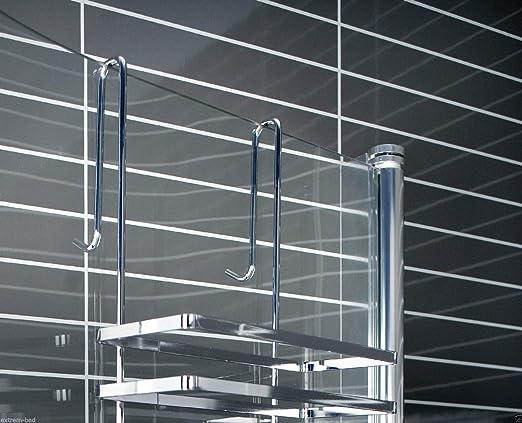 Arrow Estantes Colgantes para mampara de Ducha, 3 Pisos, sin Agujeros, para Montaje en la mampara de la Ducha o la bañera: Amazon.es: Hogar