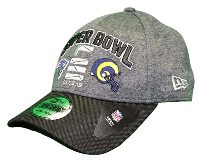 san francisco f8e5d bce66 Amazon.com   New Era New England Patriots vs. Los Angeles Rams NFL Super  Bowl LIII Hat   Sports   Outdoors