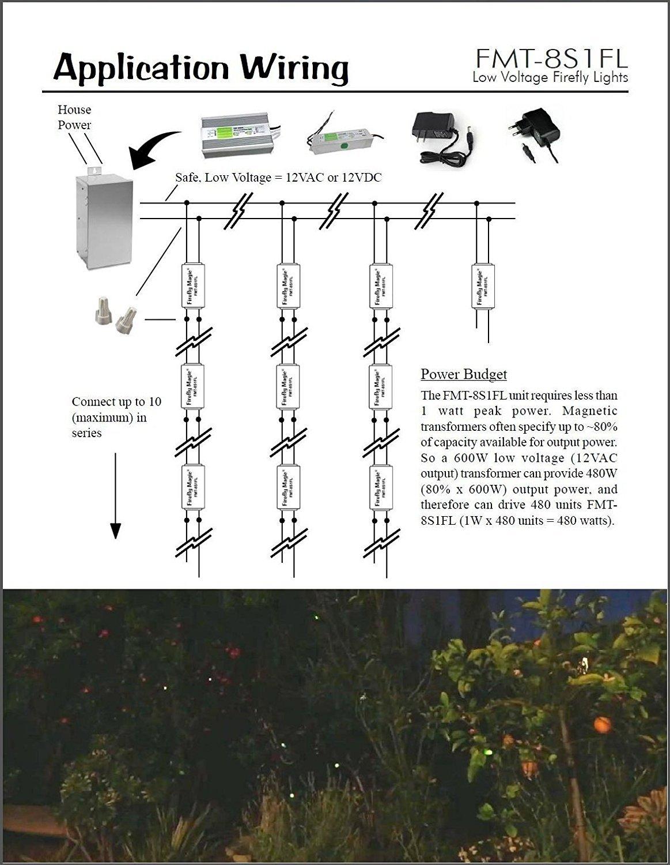 Firefly Magic Low Voltage Lights Lightning Bug House Wiring 12v Ac Or Dc Model Fmt 8s1fl2 White Garden Outdoor