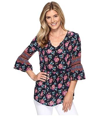 ee7c81157fc5cc Tolani Women s Talia Blouse Indigo Blouse at Amazon Women s Clothing ...