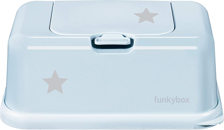 dise/ño de estrellas Caja para toallitas h/úmedas color azul Funkybox FB42