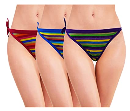 0a4031e16980 RC. ROYAL CLASS Women's Cotton Printed Thong Panty (Pack of 3 ...