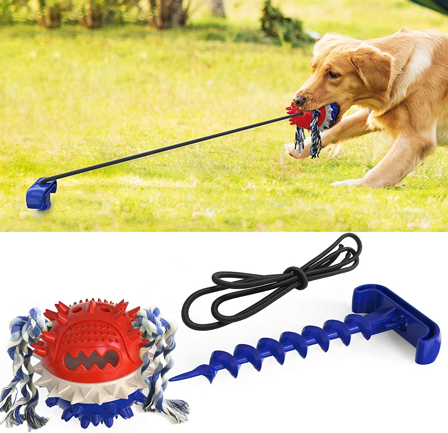 XIAOGO Upgraded Dog Tug Max 78% OFF Suction Cup Toy Toys El Paso Mall Supp Puppy Dogs
