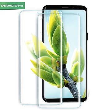 Youer Protector de Pantalla Galaxy S9 Plus, [2 Unidades] HD Cristal Templado Premium