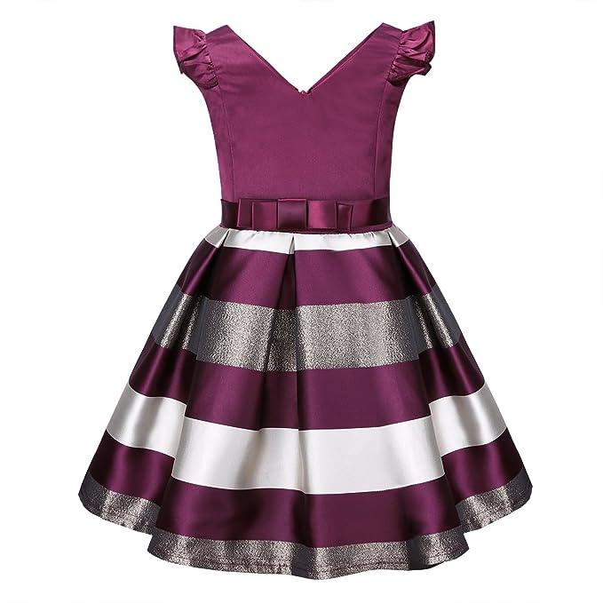 iEFiEL Vestido de Gala Fiesta Bautizo para Vestido de Princesa para Bebé Niña (12 Meses