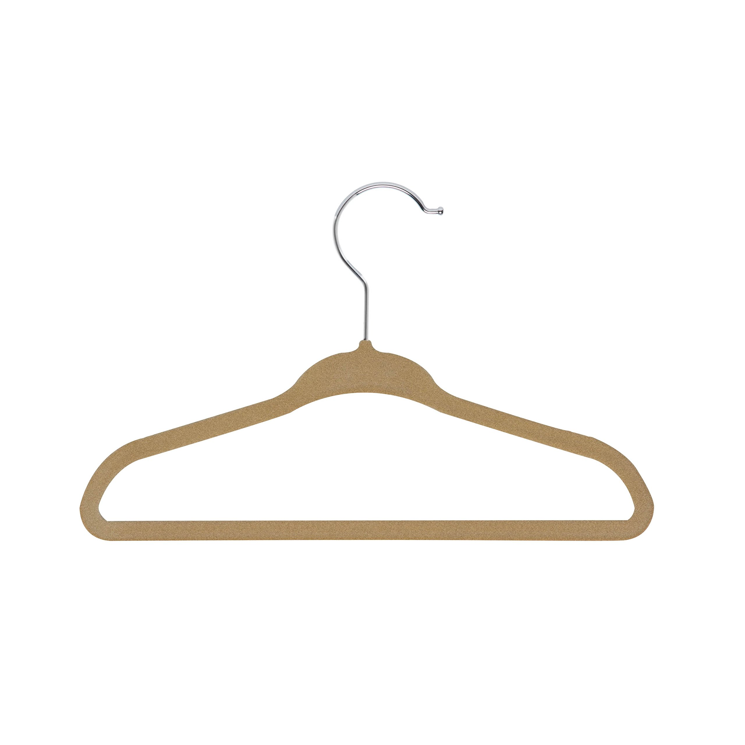 HoneyCanDo 60-Pack Kids Velvet Touch Suit Hangers, tan by Honey-Can-Do (Image #1)