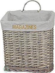 Vintiquewise(TM) Vintage Magazine Basket