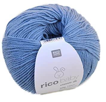 Rico Baby Classic Dk Farbe 14 Blau Weiche Babywolle Wolle Zum