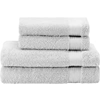 100% Cotton Towel Sets (Certified Chemical Product-Free by OEKO TEX) - Hand Towels and Bath Sheets - Hotel and Spa Quality - Super Soft and Absorbent - Machine-washable - Bathroom, Pool