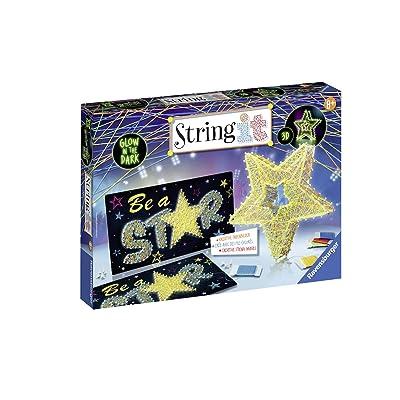 Ravensburger 18052 String it máximo: 3D Stars - Glow In The Dark Juego: Juguetes y juegos
