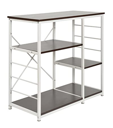 Tsideen tavolo alto scaffale per cucina o sala da pranzo for Scaffali in ferro battuto ikea