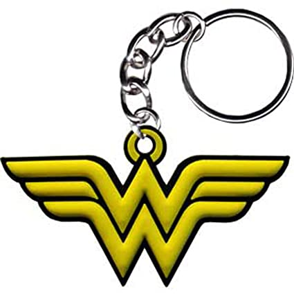 WONDER WOMAN MUJER Logo Rubber Keychians, Officially ...