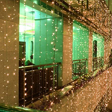 100 leds outdoor led string fairy light solar power courtyard wedding party garden christmas light decoration