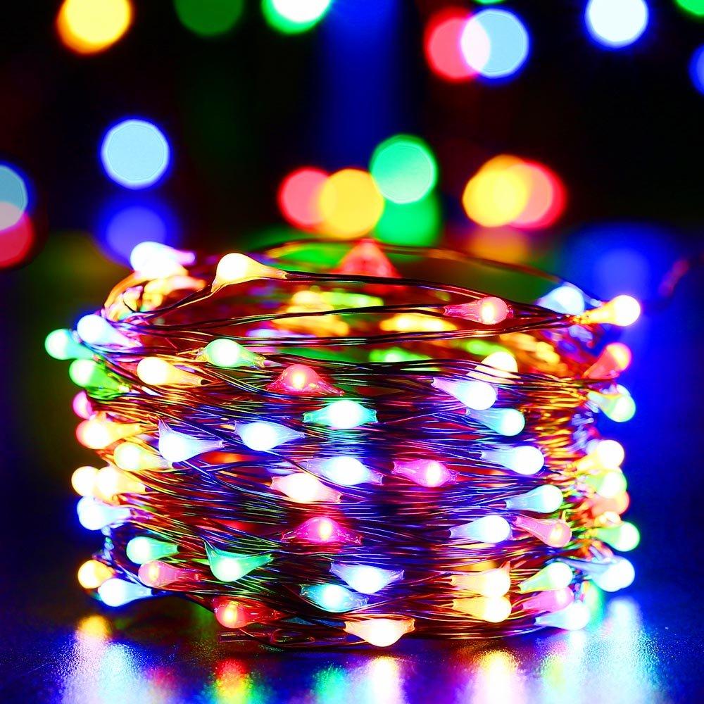 Qedertek Solar Lichterkette Au/ßen Innen- und Au/ßen Weihnachtsbeleuchtung f/ür Weihnachten Party Hochzeit 22M 200 LED Warmwei/ß Kupferdraht Lichterketten 8 Modi IP65 Wasserdicht Solarlichterkette