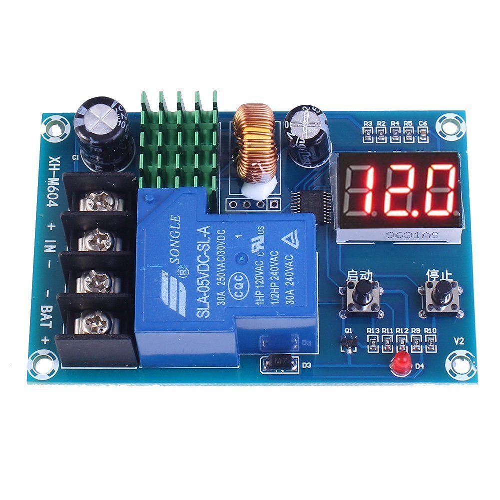 WINGONEER Battery Charge Controller Protection Switch DC 6V-60V Battery Protection Board for Lead Acid Battery and Lithium Battery
