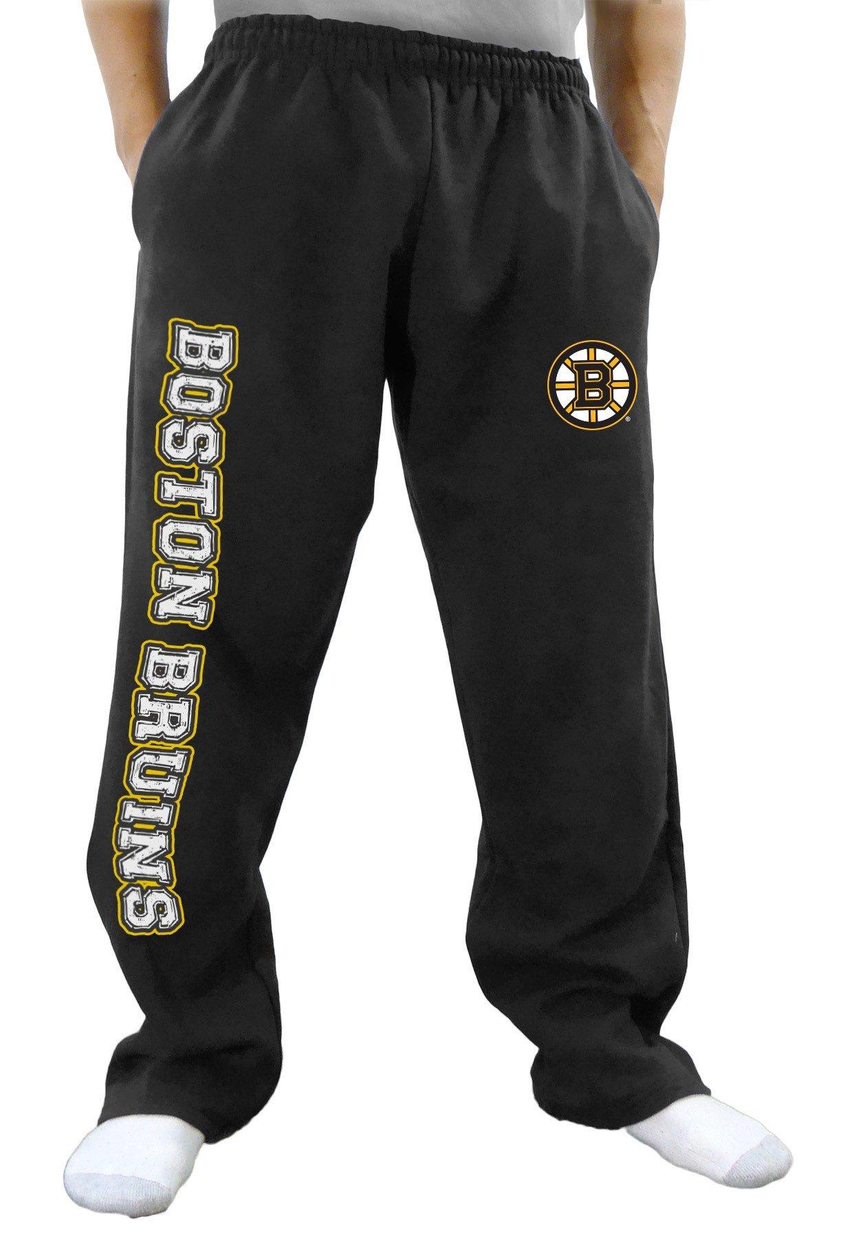 NHL Men's Premium Fleece Official Team Sweatpants (Boston Bruins, Small)