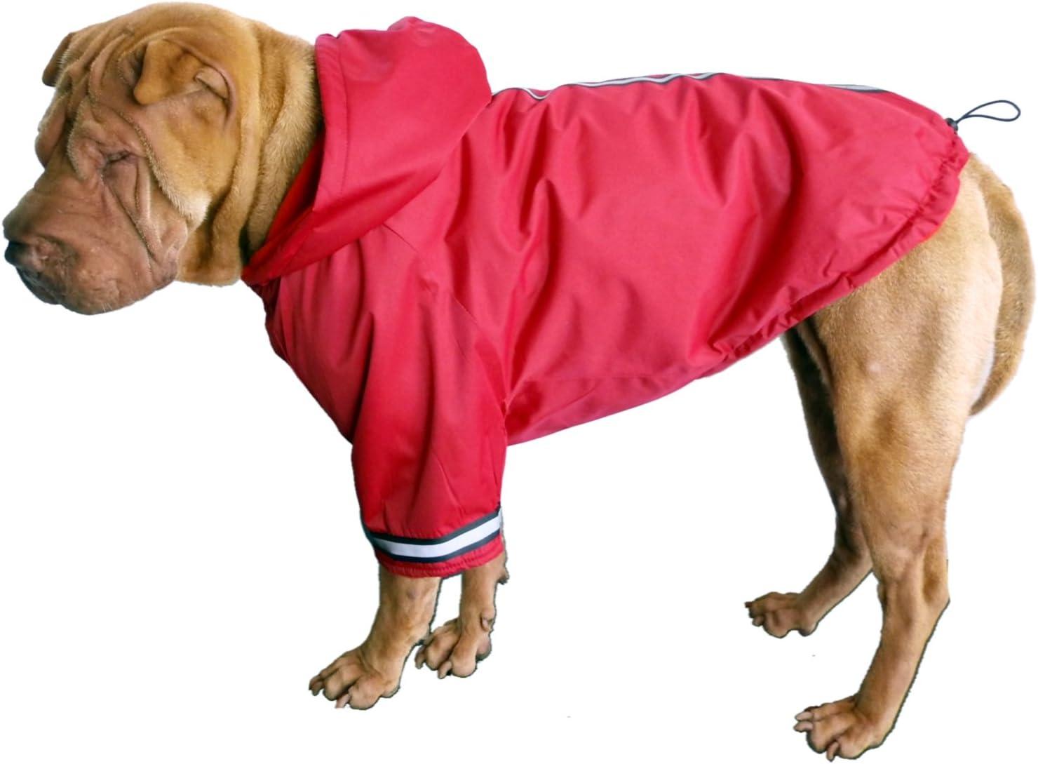 federleicht wasserabweisend Top Qualit/ät mit Reflektionsstreifen Dogs Stars Hundemantel Football rot Kapuze abnehmbar flauschig gef/üttert