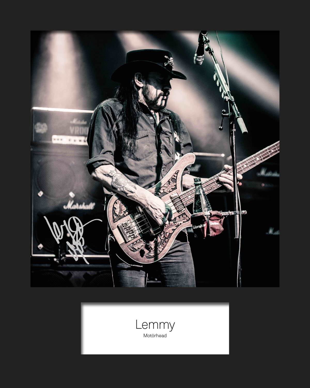 10x8 Size to Fit 10x8 Inch Frames LEMMY #2 Machine Cut Signed Mounted Photo Reprint Present Gift Collectible Photo Display MOTORHEAD