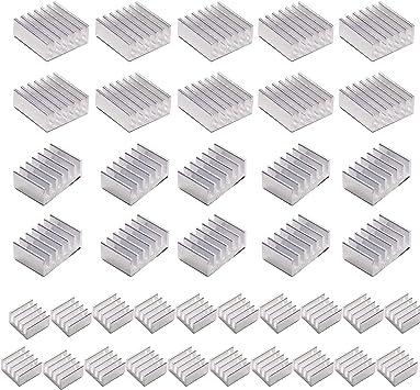 20pcs Aluminum Heatsinks for Raspberry Pi 4B with Thermal Tape 8pcs