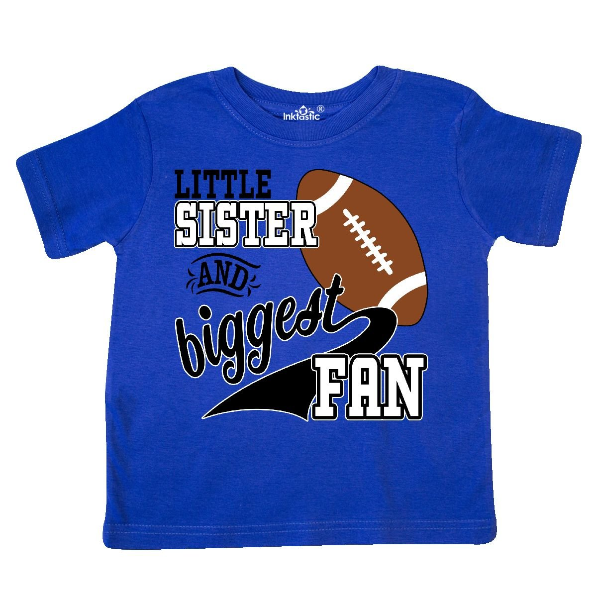 Football Player Toddler T-Shirt inktastic Little Sister and Biggest Fan