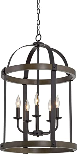 Kira Home Osprey 29″ 5-Light Farmhouse Lantern Chandelier