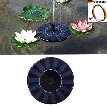 Gaeruite Solar Brunnen Solarpumpe Garten Mit 14w Monokristalline