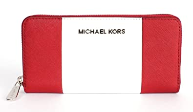 e62edd7fbdb8e6 Image Unavailable. Image not available for. Color: Michael Michael Kors Jet  Set Travel Center Stripe Continental Wallet ...
