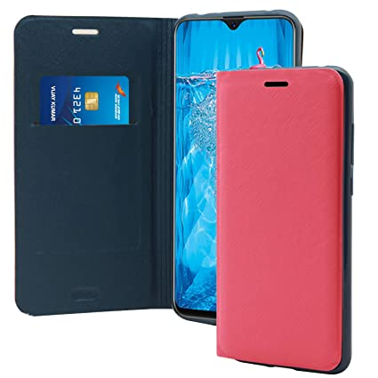 online retailer 09516 e4ddb Jkobi Textured Flip Case Cover for Oppo F9 Pro -Pink