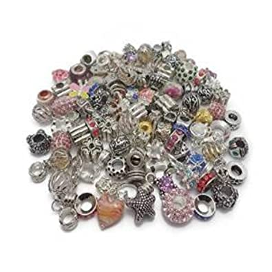 Truly Charming Job Lot Wholesale 100 x Charms Beads For Pandora Style Silver Charm Bracelets Jewellery Making 6WgCltdYM7