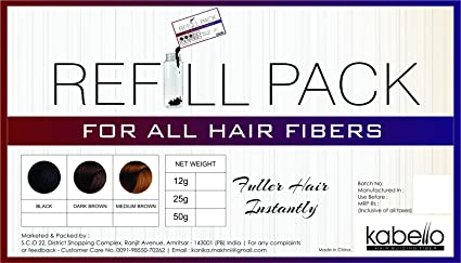kabello Pure Organic Kit de recambio de queratina Cabello Edificio Fibras Naturales 50 G mejor apto para todo el pelo Fibras como Toppik Nanogen Caboki xfusion Looks 21: Amazon.es: Belleza
