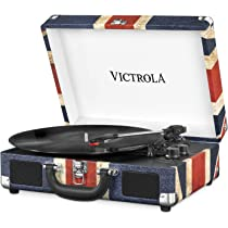 Victrola Suitcase Tocadiscos en maleta Vintage Bluetooth - UK Flag