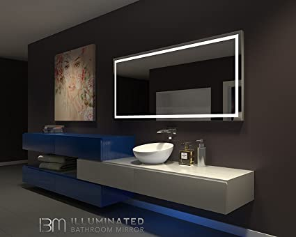 amazon com illuminated mirror harmony 70 x 32 in by ib mirror home