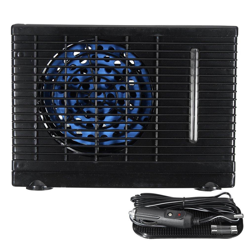 iBellete Universal DC12V Verdunstungsklimaanlage Auto Klimaanlage 35W Schwarz Tragbare Mini K/ühlung Conditioner Wasser Verdunstungsluftgebl/äse