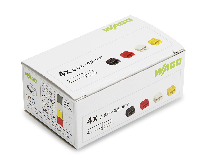/8/mm /& SUP2 confezione da 100 pezzi HDR.611778.Oscilloscopio compatibile micro-dosenklemme Series 243/Wago sezione trasversale 6/