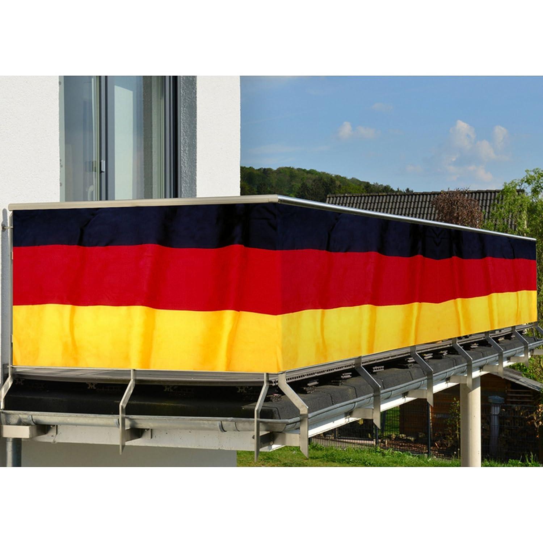5 M Balkon Sichtschutz Deutschland Fahne Flagge Balkonumrandung