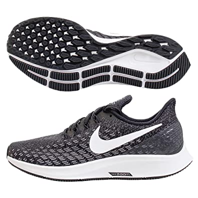 Nike Women's Air Zoom Pegasus 35 Running Shoe Wide Black/White/Gunsmoke/Oil  Grey Size 7 Wide US