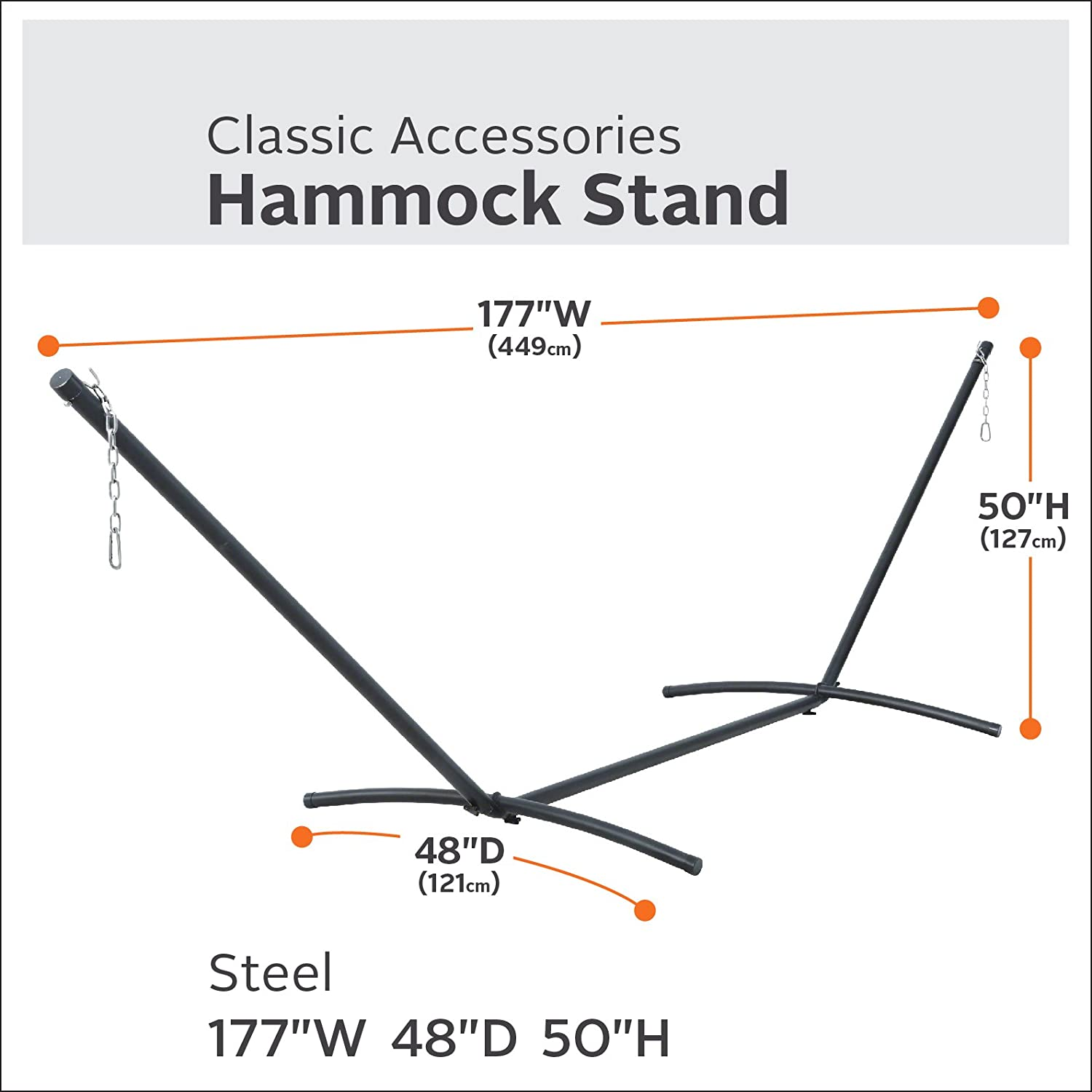Classic Accessories 50-021-011001-RT Steel Hammock Stand