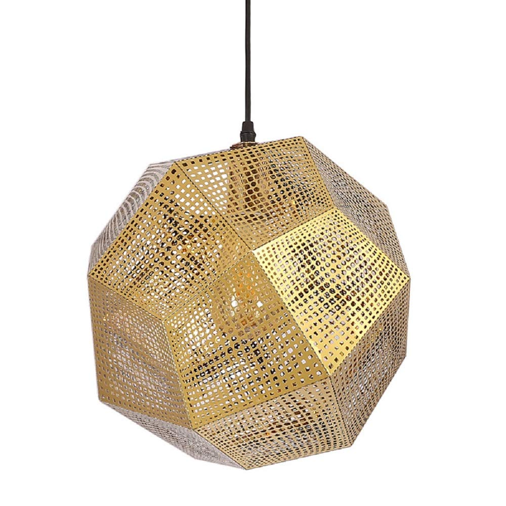 Nordic Meal Chandelier Personality Hollow Multi-Faceted Ball Ceiling Lamp Luxury Post-Modern Creative Stainless Steel Geometric Restaurant Chandelier (Color : Chrome)