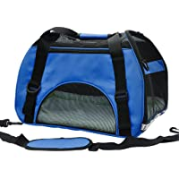 Pet Cuisine Breathable Soft-Sided Pet Carrier, Cats Dogs Travel Crate Tote Portable Handbag Shoulder Bag Outdoor Dark Blue