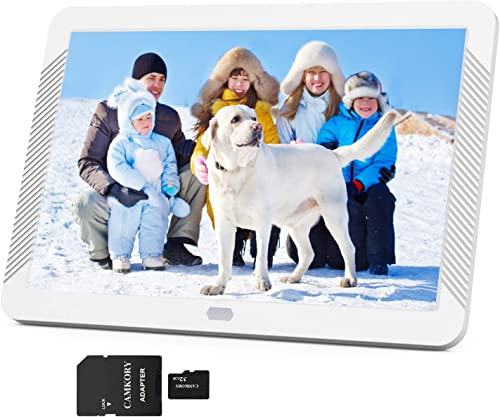 Camkory 1920×1080 Digital Picture Frame 8 Inch Widely IPS Screen Include 32GB SD Card, Photo Auto Rotation, Image Preview, Adjustable Brightness, Support Max 128GB USB Drive, SD, MMC, MS Card